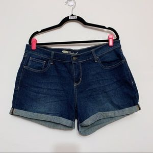 Old Navy Boyfriend Dark Wash Shorts